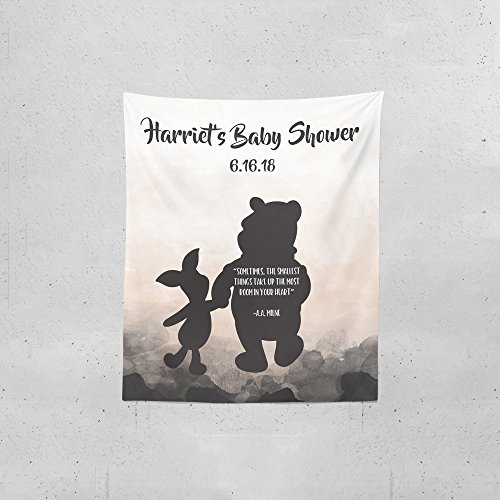 The Pooh Baby Winnie Monitor (Winnie The Pooh Backdrop | Baby Shower Backdrop | Shower Decor | Winnie The Pooh Party Decor | Tapestry (Medium 68