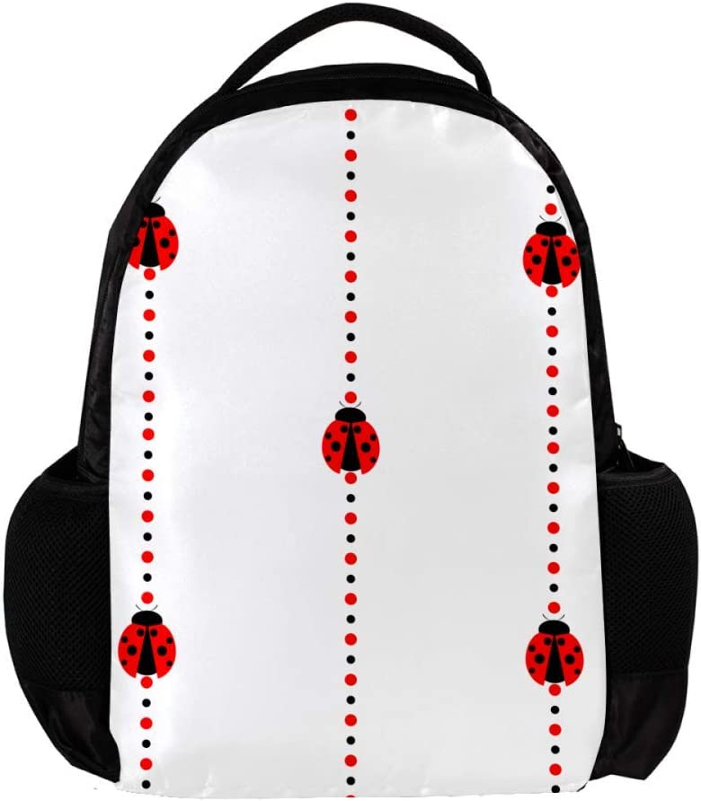 MAPOLO Pat Ladybug School Backpack Travel Bag Rucksack College Bookbag Travel Laptop Bag Daypack Bag for Men Women