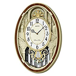 Seiko Gold-Tone Wall Clock (Model: QXM369BRH)