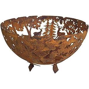 Esschert Design Fallen Fruits Oxidised Rust Effect Woodland Fire Pit