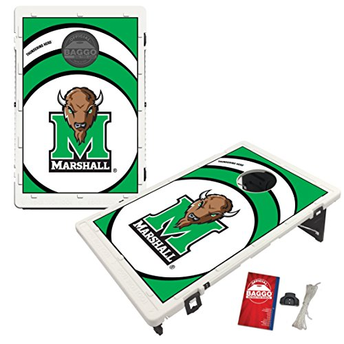 Victory Tailgate Marshall Thundering Herd Baggo Bean Bag Toss Cornhole Game Vortex Design
