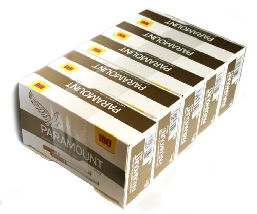 5 X 100 Paramount Gold Cigarette Tubes With Filter King Size