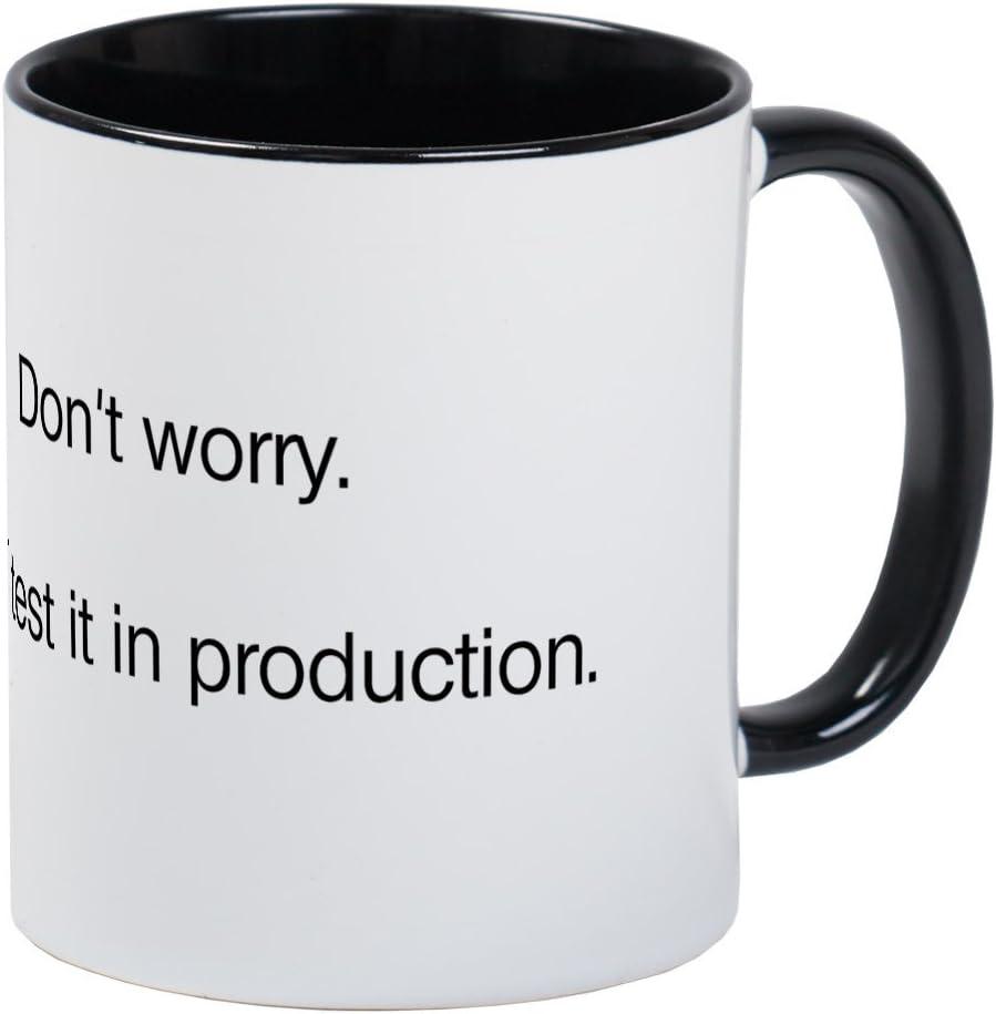 CafePress We'll Test It In Production Mug Unique Coffee Mug, Coffee Cup