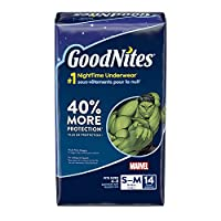 GoodNites Bedtime Bedwetting Underwear for Boys, S-M, 14 Count (Packaging May Vary)