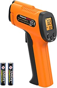 ThermoPro TP30 Digital Infrared Thermometer Gun Non Contact Laser Temperature Gun -58°F ~1022°F (-50°C ~ 550°C) with Adjustable Emissivity & Max Measure (NOT FOR HUMAN BODY TEMPERATURE)
