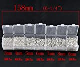 HooAMI 1500pcs Silver Plated Open Jump Ring 3mm 4mm