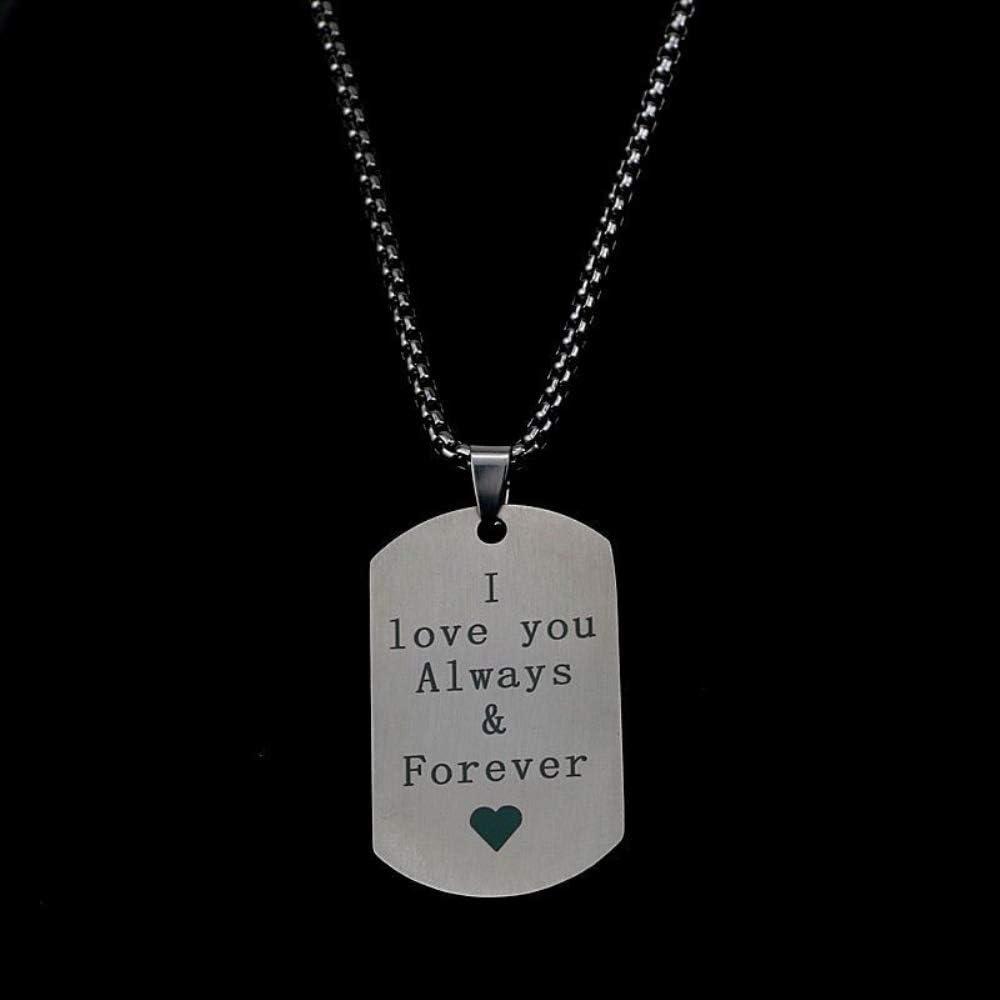 A mi Hijo Collar Colgante de Etiqueta de Acero Inoxidable Joyería Personalizada Amor Papá Mamá Abuelo Abuela A mi Amante Regalo