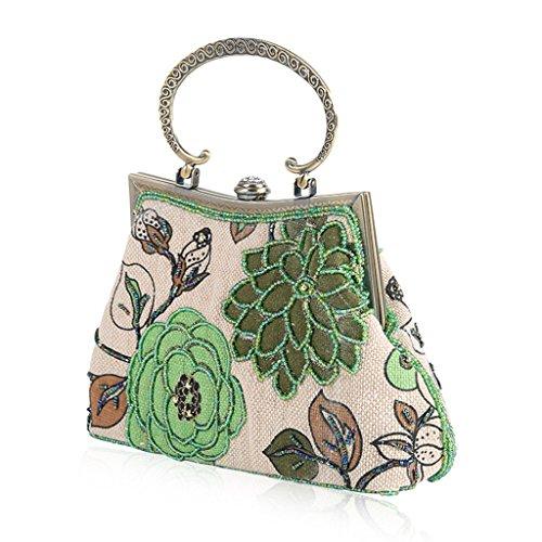 Wanfor 3TT600384 femme Green Pochette pour Aqn7wA4Sr