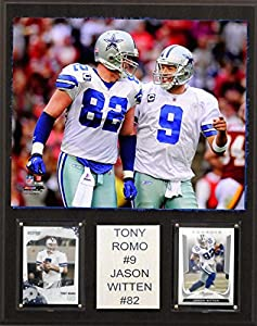 NFL Tony Romo and Jason Witten Dallas Cowboys Player Plaque, Brown, 12 x 15-Inch