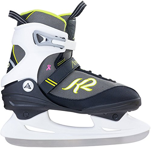 Womens ALEXIS ICE Skate, White/Black, 9 Black Womens Ice Skates