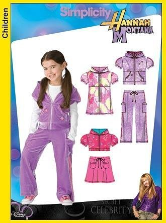 Simplicity Hannah Montana Pants and Top Outfit Pattern #3714