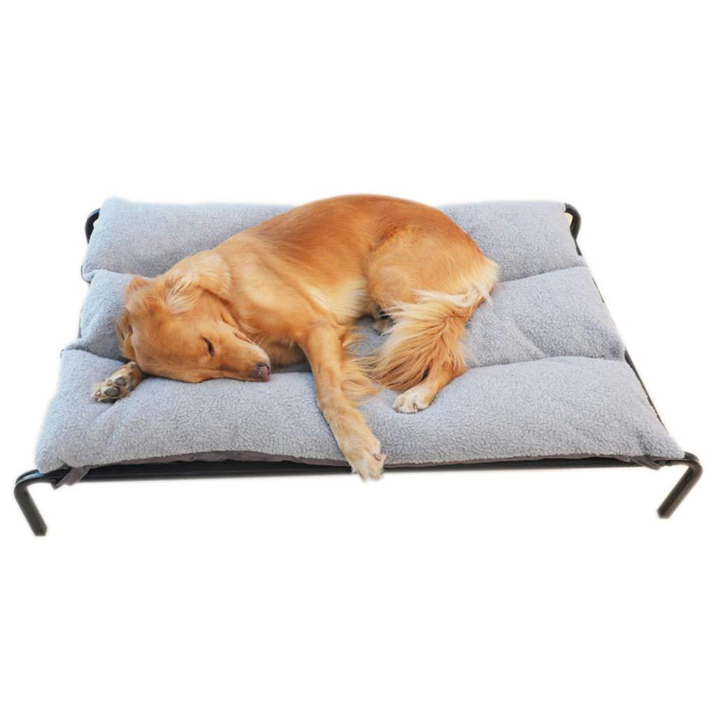 122×72×21cm Elevated Dog Beds for Large Dogs, Orthopedic Pet Bed for Outdoor, Black Metal Frame Travel Portable Kennel (Size   122×72×21cm)