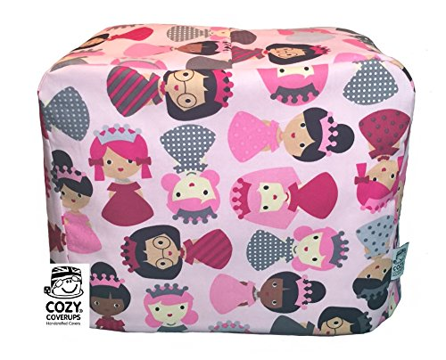 Handmade Mini Sewing Machine CozyCoverUp® Dust Cover in Pink Princess Fabric