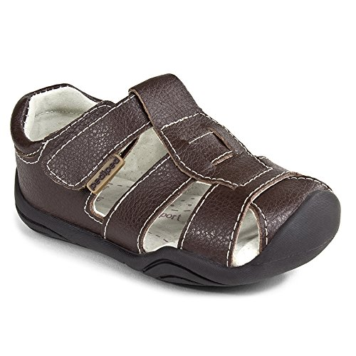 pediped Grip-N-Go Sydney Sandal (Toddler),Chocolate Brown,19 EU (4-4.5 M US Toddler) by pediped