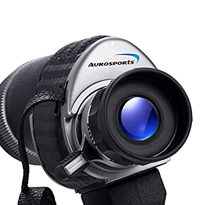 Aurosports 10X50 Waterproof Monocular Telescope with Detachable Handle, perfect for birdwatching