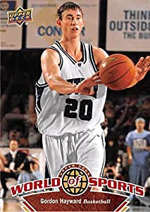 Gordon Hayward Basketball Card Butler Bulldogs Ncaa Utah Jazz 2010 Upper Deck World Sports 43 Rookie At Amazon S Sports Collectibles Store