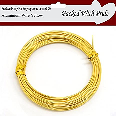 Aluminium Craft Wire Jewellery Modelling Florist Wire Findings Available in 26 Colours APPLE GREEN POLYBAGSTORES 1.5mm x 10 Metres