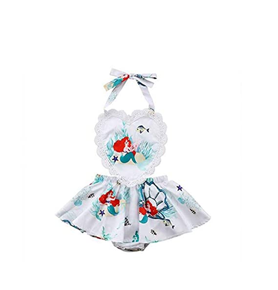 Amazon.com: Peleles de bebé para niñas, diseño de sirena con ...