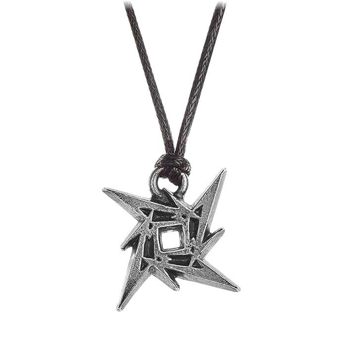 Colgante Alchemy Rocks Metallica Ninja Star (Negro/Plateado ...