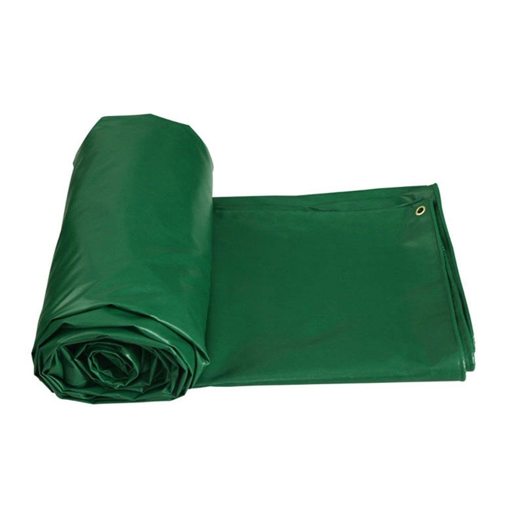 LWHY グリーン屋外用シェードヘビーデューティターポリン防水タープカバーガーデンレインカバーターフシート450g /m² - UV保護 - 11サイズオプション、厚さ0.6mm (サイズ さいず : 4MX4M) 4MX4M  B07K2R855H
