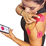 POWERDOT Wireless Muscle Stimulator - DUO - Red - Phone Controlled EMS for Targeted Muscle Training - Build Strength, Power, and Endurance - Speed Up Recovery Time - iPhone & Android Compatible