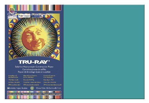 PAC103039 - Tru-Ray Construction Paper (Turquoise Paper Construction)