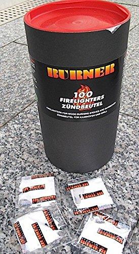 BURNER Kaminanzünder Zündbeutel Anzünder 100er BOX