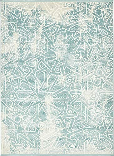 Unique Loom New Classical Collection Traditional Distressed Vintage Classic Blue Area Rug 9 0 x 12 0