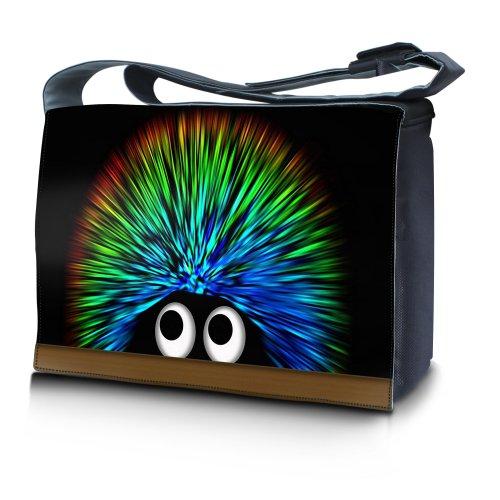"""Luxburg® Design Messenger Bag Notebooktasche Umhängetasche für 15,6 Zoll, Motiv: Igel """"undercover"""""""