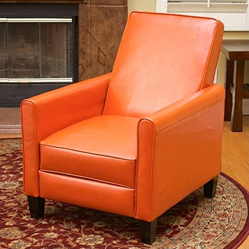 Noble House Delouth Recliner Chair in Orange