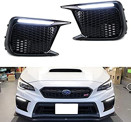 Sequential LED DRL Signal Fog Lights Lamps Bezel Kit For 2018-2020 WRX Limited