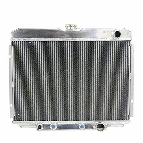 OzCoolingParts 67-70 Ford & Mercury Radiator, 4 Row Core Full Aluminum Radiator for 1967-1970 Ford Mustang/Mercury Cougar, 1969 Ford Fairlane/Ranchero, XR-7 V8 289/302/351 Engine ()