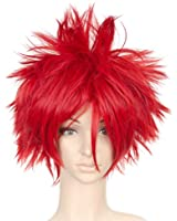 Red Short Length Anime Costume Cosplay Wig