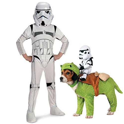 Rubie's Star Wars Storm Trooper Size 4-6 Costume Bundle Set ()