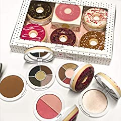 You DONUT want to miss this! The I Heart Revolution Donut Tray Donut Palette Set is a tray of delicious donuts good enough to eat, not edible, but wearable. Smell me, squeeze me, love me. Featuring donut designed eyeshadow, blusher and bronze...