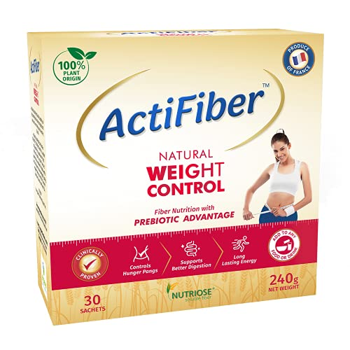ActiFiber Natural Weight Control – Weight Loss Product for Women & Men | Fiber Nutrition with Prebiotic Advantage | 100% Plant Origin (240 Gm Pack, 30 Sachets)