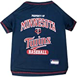 MLB MINNESOTA TWINS Dog T-Shirt, Small. - Licensed Shirt for Pets Team Colored with Team Logos