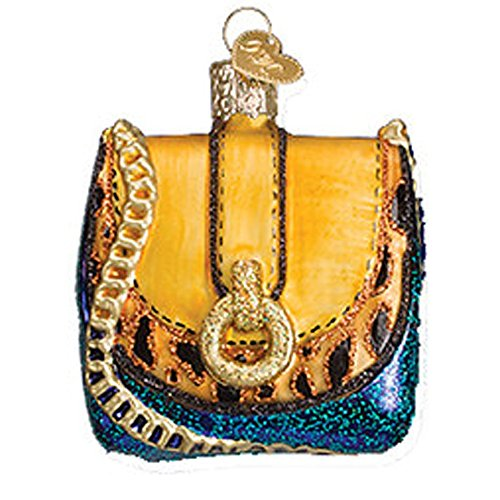 Old World Christmas Yellow Blue Chain Purse ()
