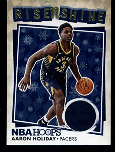 2018-19 Panini Hoops Rise N Shine Memorabilia Winter #23 Aaron Holiday MEM Pacers Basketball NBA from Hoops
