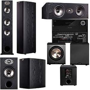 Polk Audio TSX440T 5.1 Home Theater System (Black)-Harman Kardon AVR 2700 7.1