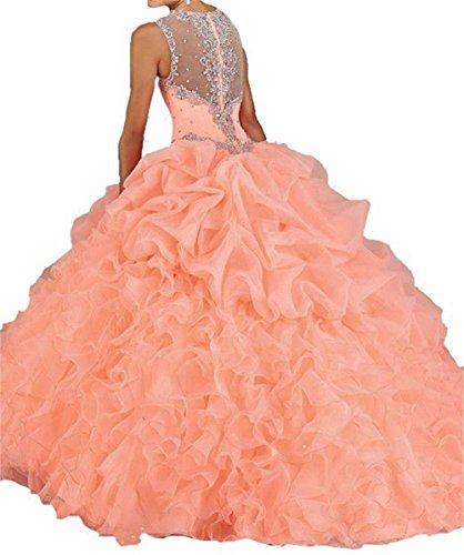 Lilac Gown Party Dress Quinceanera Women's Cheap D18 Ball Prom Dydsz Dresses Beaded wx7fOqW