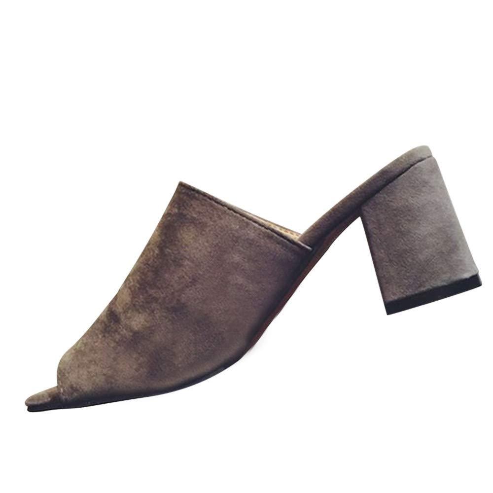 116f28ef03fe4 Amazon.com: ❤ Mealeaf ❤ Women Fashion Flock Square Toe Wedges ...