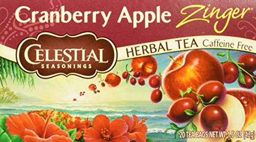 (Celestial Seasonings Tea Herb Cranberry Apple Zing C Bag, 20 ct )