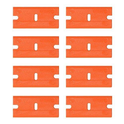 FOSHIO 200Pcs 1.5'' Plastic Razor Blades for Safety Titan Scraper, Double Edged Plastic Scraper Blades Remove Decals/Stickers/Adhesive Label/Clean Glass by FOSHIO (Image #4)