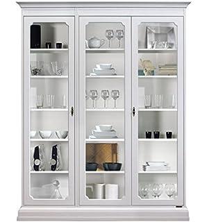 Mueble vitrina de salón o comedor, mueble con puertas de vidrio y ...