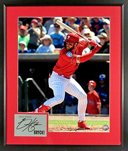 Philadelphia Phillies Bryce Harper 16x20 Photograph (SGA Signature Series) Framed from Sports Gallery Authenticated
