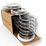 T&Co. Stainless Steel Fermentation Kit – 3 Waterless Fermentor Airlock Lids & Pickle Helix Fermenter Weights – For Wide Mouth Mason Jars – Complete Fermenting System