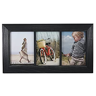 "Fetco Home Decor F54452157T Blanford Classic Wood Photo Frame, 5 x 7"", Black"