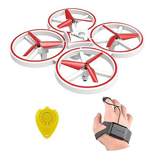 MeterMall ZF04 RC Drone Mini Infrared Induction Hand Control Drone Altitude Hold 2 Controllers Quadcopter for Kids Toy Gift