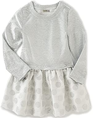Baby Girls' Crinkle Knit Body with Jacquard Skirt
